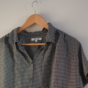 Madewell Gingham Drapey Blouse